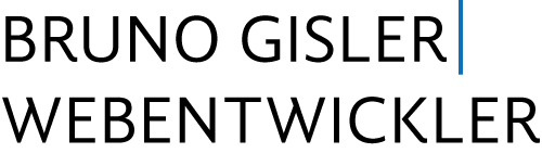 Logo Bruno Gisler | Webentwickler